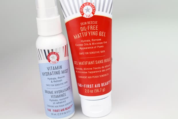 First Aid Beauty Skin Rescue Oil-Free Mattifying Gel and Vitamin Hydrating Mist