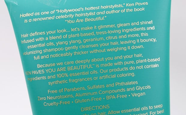 Ken Paves packaging 5 Ken Paves You Are Beautiful Volumizing Collection review