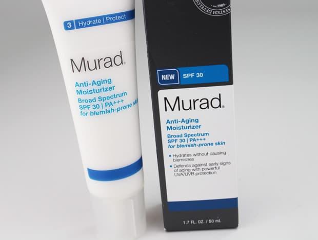 Murad anti aging moisturizer packaging 6 Murad Anti Aging Acne Regimen Review