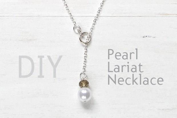 Easy Diy Projects Pearl Lariat Necklace