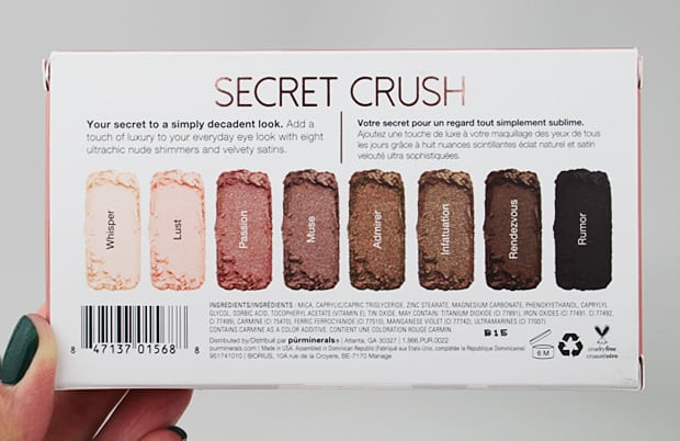 purminerals secret crush eye shadow palette packaging 3 Pür Minerals Secret Crush Eye Shadow Palette swatches and review