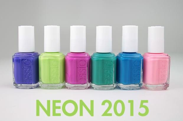 Essie Neon 2015 swatches 1 Essie Summer 2015 and Essie Neon 2015 swatches and review