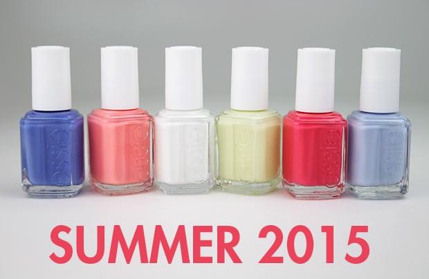 Essie Summer 2015 swatches 1 Essie Summer 2015 and Essie Neon 2015 swatches and review