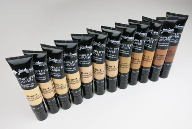 Jordana Complete Coverage swatches 2 Jordana Cosmetics Complete Cover 2 in 1 Concealer & Foundation swatches