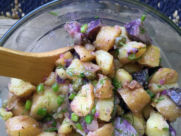 Mayo free Fingerling potato salad recipe The Worlds Best Mayo Free Potato Salad Recipe