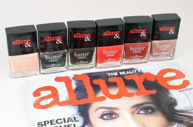 Allure and Butter London swatches and review