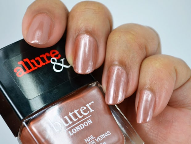 Allure butter london collection nail lacquer Im On The List swatches 5 Allure and Butter London swatches and review