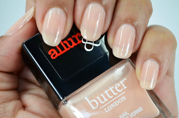 Allure butter london collection nail lacquer Nude Stilettos swatches 4 Allure and Butter London swatches and review