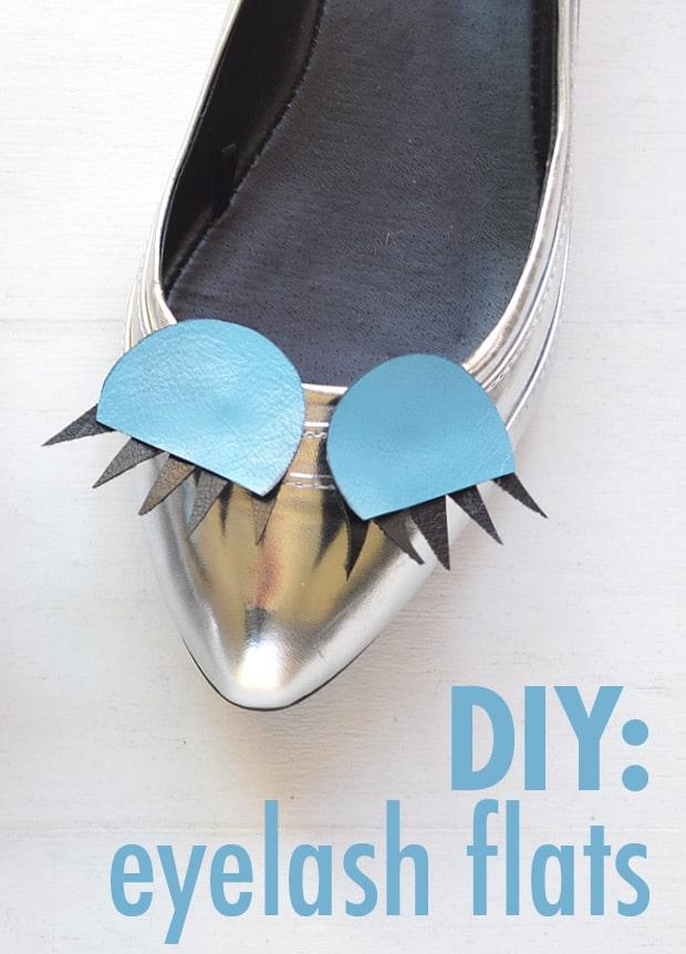 DIY Fashion Eyelash Flats shoes pinterest Easy DIY Projects: Eyelash Flats
