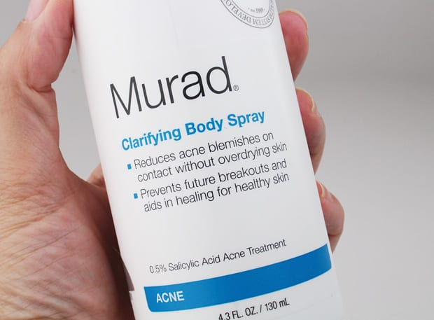 Murad Clarifying body spray review 3 Body Acne? Murad can help