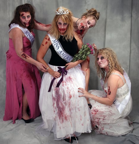 Zombie Miss America Pageant Halloween Costume 3 Things:  Halloween Costumes