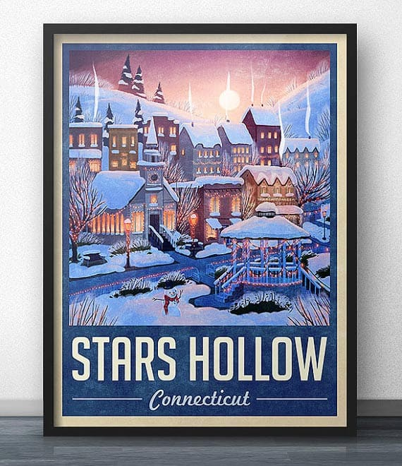 Gilmore Girls poster 2015 Gift Guide: For the TV obsessed