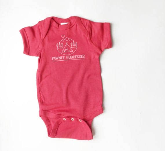 Parks and Recreation onesie 2015 Gift Guide: For the TV obsessed