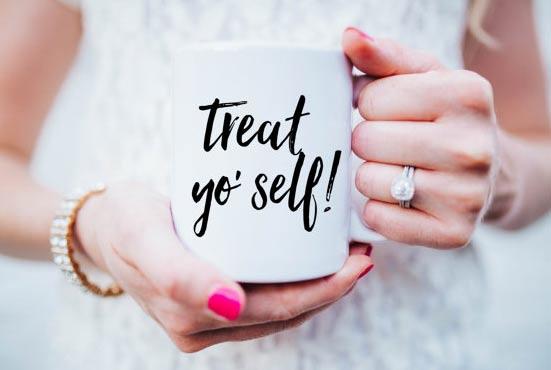 Treat Yo Self coffee mug 2015 Gift Guide: For the TV obsessed
