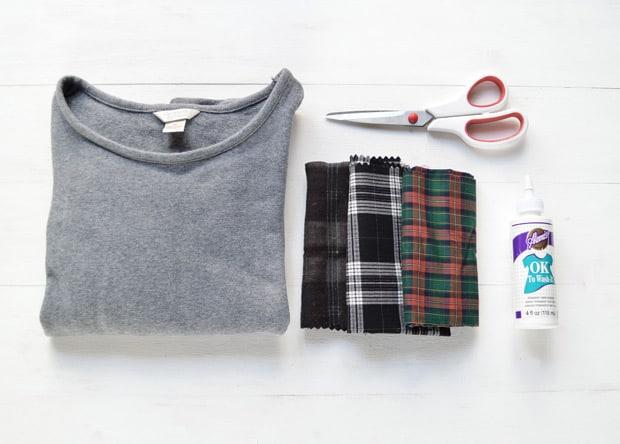 easy-DIY-Project-Plaid-Patch-Sweatshirt-1