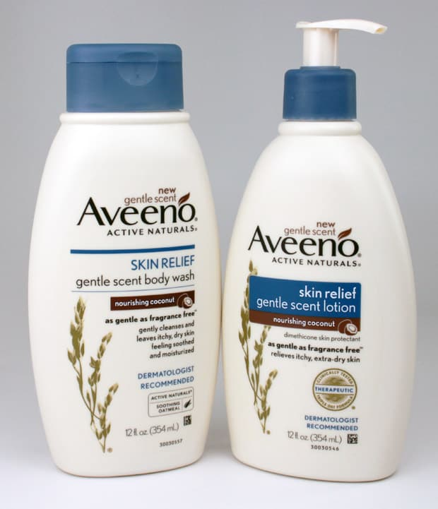 Aveeno Skin Relief gentle scent body wash 3 Aveeno Skin Relief Gentle Scent Body Wash in Nourishing Coconut