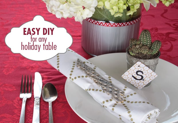 Easy DIY Projects: 3 table settings for ANY holiday
