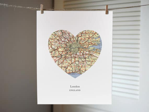 Gift guide for anglophile London print 2015 Gift Guide: For The Anglophile
