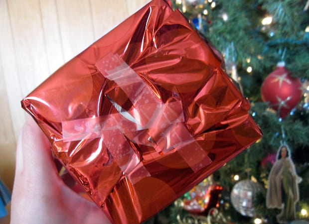 how a man wraps a present 3 Things: All I Want for Christmas Is...