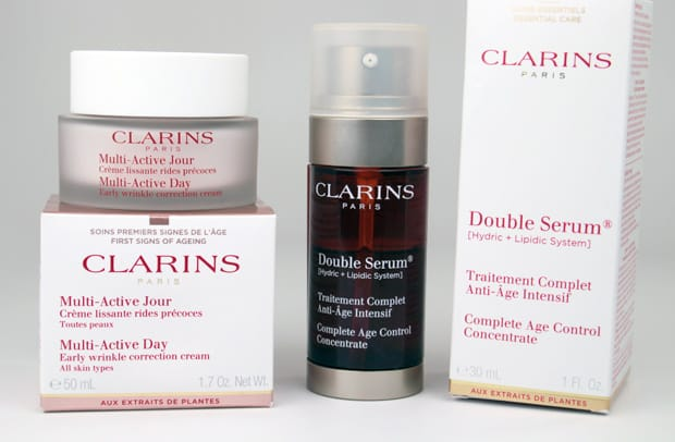 Clarins Double Serum review Clarins Double Serum and Multi Active Day Cream review