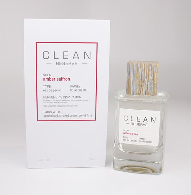 Clean Reserve perfume review: The scents are housed in fat glass bottles with tops of reclaimed wood. We Heart This shares a full review.