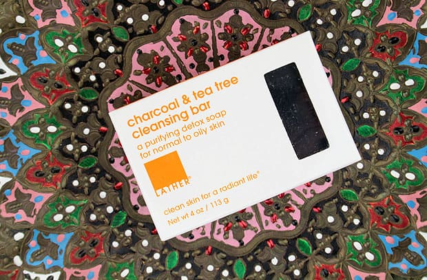 Lather charcoal bar review 1 LATHER Charcoal & Tea Tree cleansing bar review