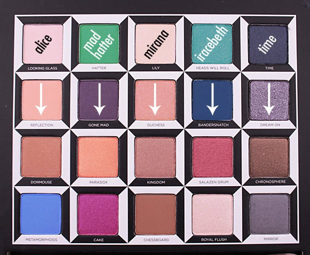 Urban Decay Alice Through the Looking Glass eye shadow palette swatches 10B Urban Decay Alice Through the Looking Glass eye shadow palette and lipstick   swatches and review (PIC HEAVY)
