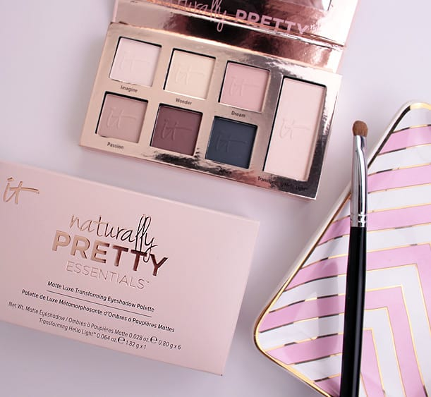 IT Cosmetics Naturally Pretty Essentials Palette 2 IT Cosmetics Naturally Pretty Essentials Matte Luxe Transforming Eyeshadow Palette review