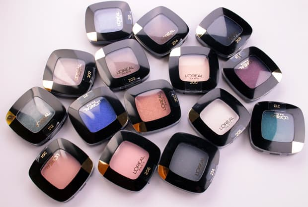LOreal Colour Riche Mono Eye Shadow swatches 1 L'Oreal Colour Riche Mono Eye Shadow swatches and review