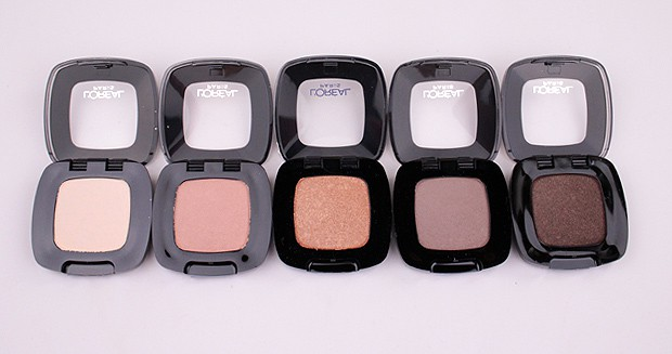 LOreal Colour Riche Mono Eye Shadow swatches browns 5 L'Oreal Colour Riche Mono Eye Shadow swatches and review