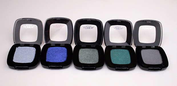 LOreal Colour Riche Mono Eye Shadow swatches greens 9 L'Oreal Colour Riche Mono Eye Shadow swatches and review