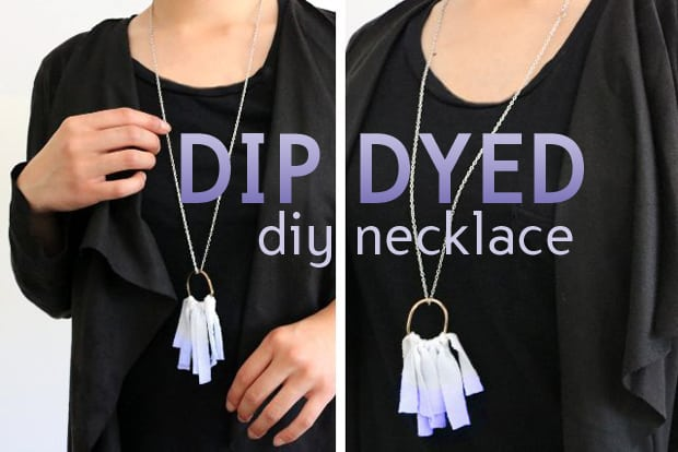 Easy DIY Projects: Dip Dyed Fringe Necklace