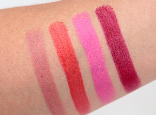 NYX Plush Gel Lipstick swatches 1 NYX Plush Gel Lipstick review, swatches, looks