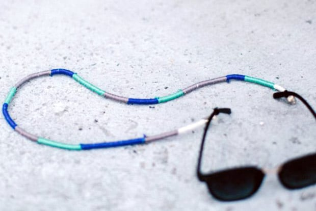DIY Thread Wrapped Sunglass Holder 13 Easy DIY Projects: Thread Wrapped Sunglasses Holder