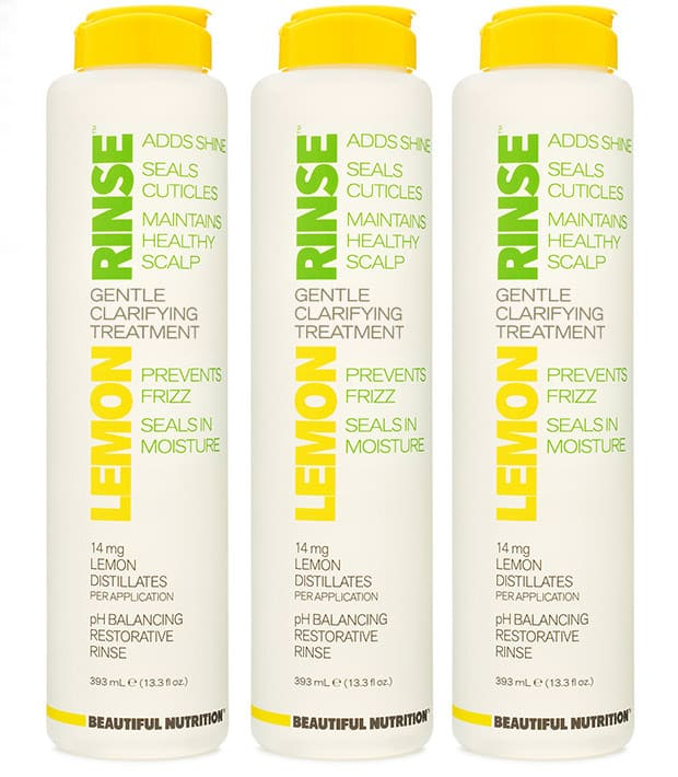 Lemon Rinse clarifying shampoo 1 Beautiful Nutrition Lemon Rinse clarifying treatment review