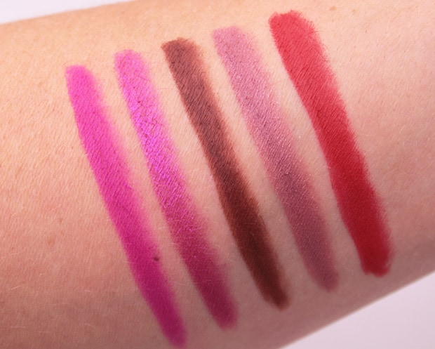 Urban Decay 247 lip pencil swatches 5 Urban Decay Vice lipstick swatches, review and looks