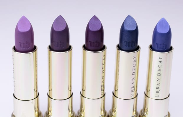 Urban Decay Vintage lipstick swatches 6 Urban Decay Vice Lipstick Vintage Capsule Collection swatches, review and looks