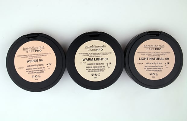bareminerals barepro Aspen 04 review 5 bareMINERALS barePro Performance Wear Powder Foundation swatches and review