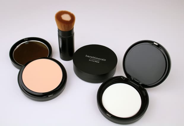 bareMINERALS barePro Performance Wear Powder Foundation swatches and review | we heart this