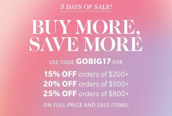 shopbop sale March 2017 Shopbop sale spring 2017: get up to 25% off!