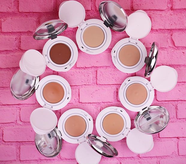 IT Cosmetics Confidence in a compact foundation swatches 5 IT Cosmetics Confidence In A Compact: swatches of EVERY shade