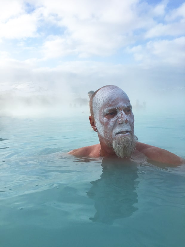 milky blue water at blue lagoon Iceland