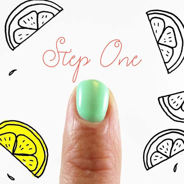 Easy DIY Nail Art: Margarita Manicure | we heart this