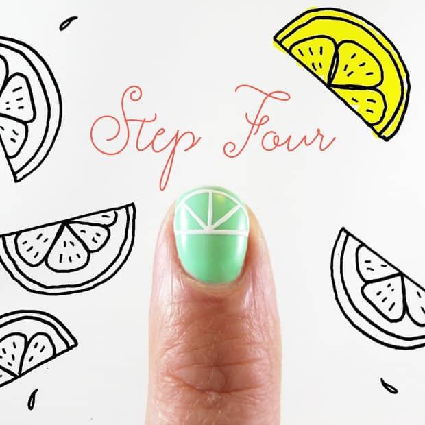 DIY Nail Art Lime Slice 4 Easy DIY Nail Art: Margarita Manicure