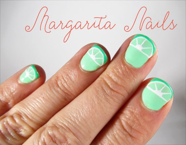 DIY Nail Art Margarita inspired Easy DIY Nail Art: Margarita Manicure