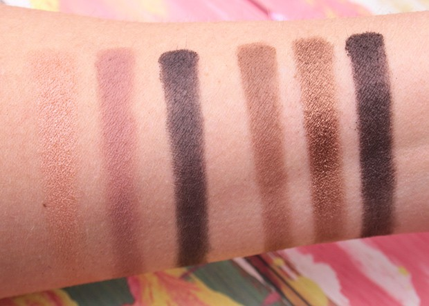 MAC in the flesh palette swatches 2 Eyes on MAC review, and a MAC Eye Shadow Finish Guide