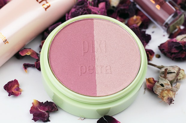 Pixi Rose Gold Beauty Blush Duo review Pixi Hello Rose! swatches and review