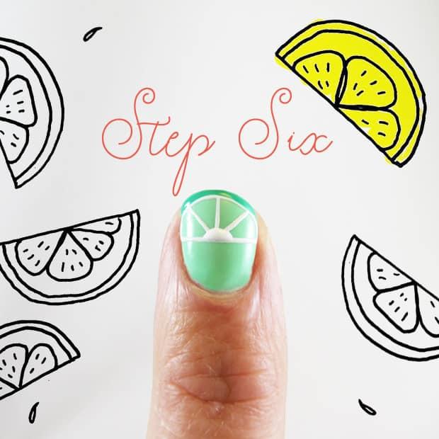 Simple DIY Nail Art Margarita lime 6 Easy DIY Nail Art: Margarita Manicure