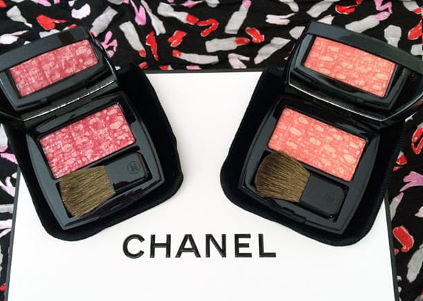 Chanel Tweed effect blush duo 1 Chanel Blush Duo Tweed Effect swatches and review