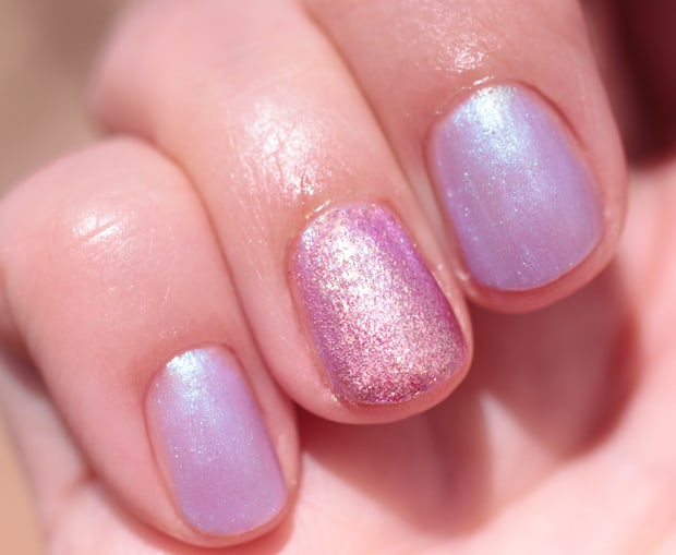 Nails Inc Sparkle Like A Unicorn Nail Polish Duo swatches #TreatYoSelf with the Nails Inc Sparkle Like a Unicorn Duo